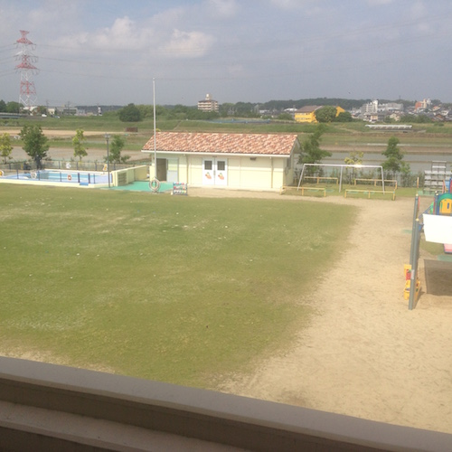 愛知県みよし市なかよし保育園園庭