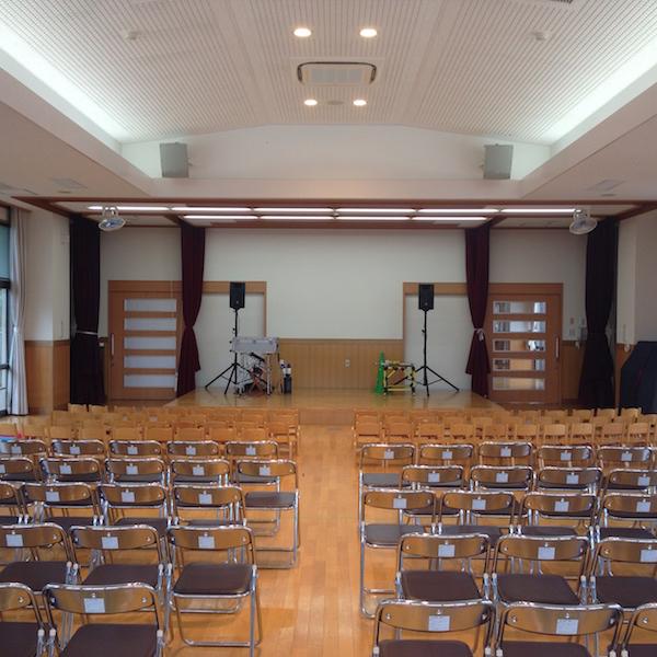 愛知県みよし市天王保育園ホールセッティング