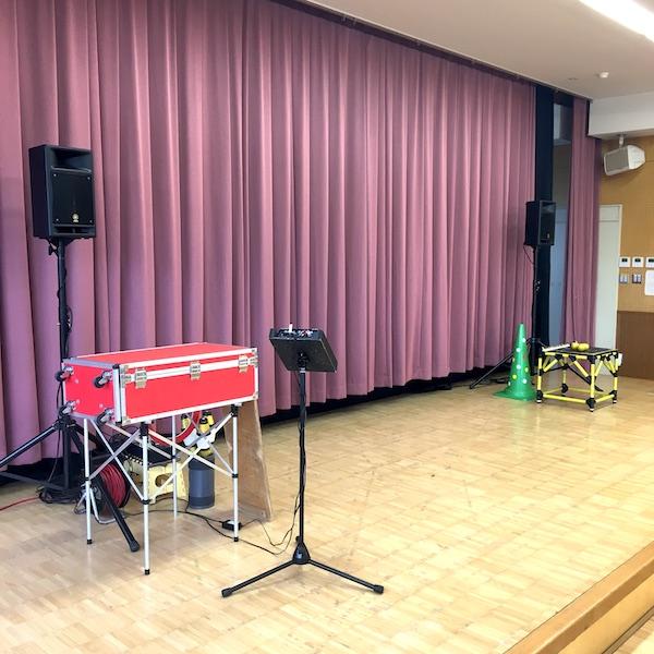 保育園の出張イベントのステージセッティング