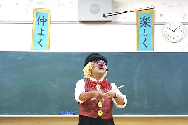 朝日が丘子ども会で出張イベント!元気なみんなとピエロがお友だち♪愛知県名古屋市