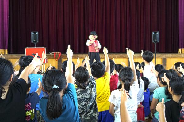 豊橋市の子ども会でバルーンアート体験教室!140人がピエロとワイワイ♪愛知県豊橋市