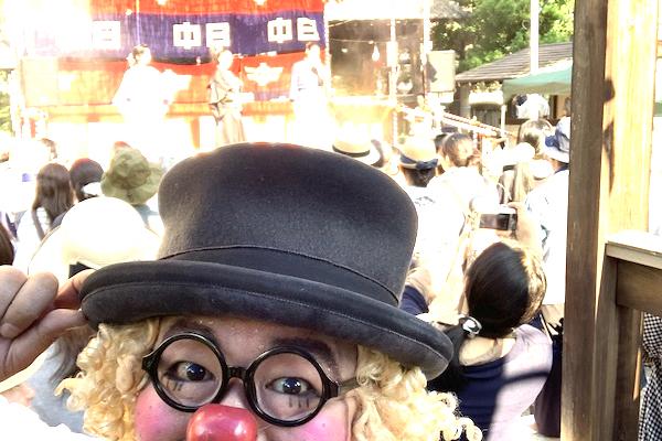 妙行寺夏まつりでピエロが今年も暑さに負けず熱いパフォーマンス♪愛知県名古屋市