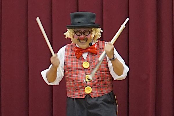 平島子ども会のお楽しみ会でおしゃべりピエロの愉快な出張イベント♪岐阜県羽島郡