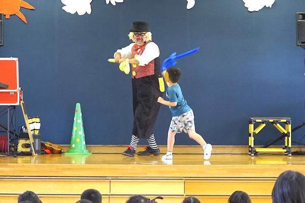 大草保育園の元気な園児たちと騒ぎまくったピエロの出張イベント♪愛知県額田郡