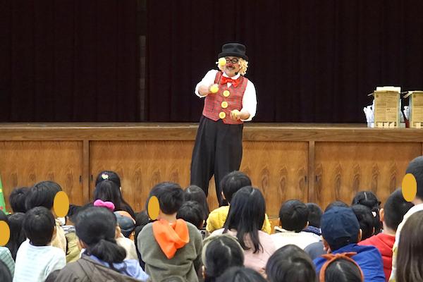 師勝東小学校区子ども会のお楽しみ会でピエロの愉快な出張コメディショー♪愛知県北名古屋市