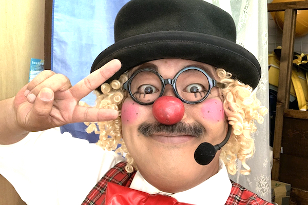 平戸橋ばしっとライブでお久しぶりのピエロのコメディショー♪愛知県豊田市